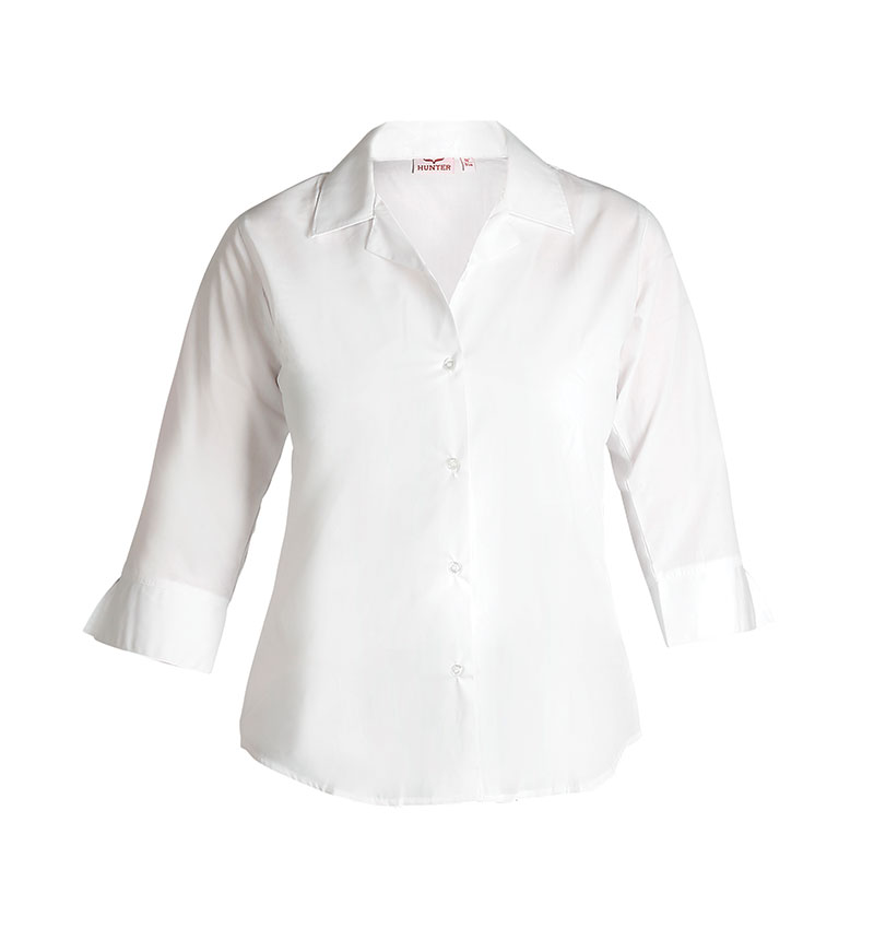 668 Fitted ¾ Sleeve Revere Blouse
